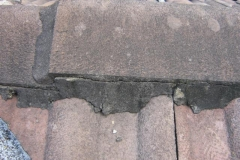 Roof capping-damaged